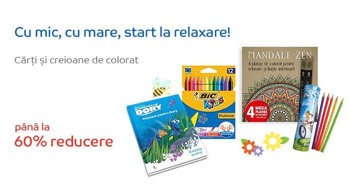 cărți și creioane de colorat
